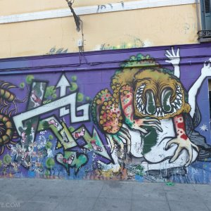 Graffiti Madrid quartier Malasana