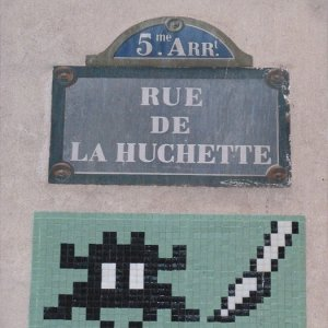 Mosaique street art Paris huchette