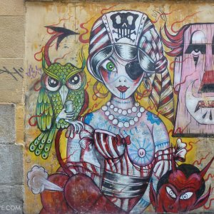 street art Madrid quartier Malasana