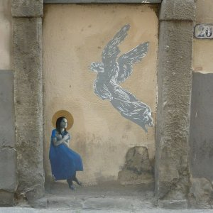 street art Florence ange Italie italy firenze