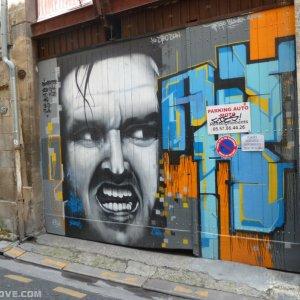 Graffiti Jack Nicholson Bordeaux