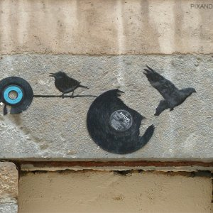 Collage street art vinyls