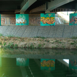 Graffiti Montpellier Street Art pont A9